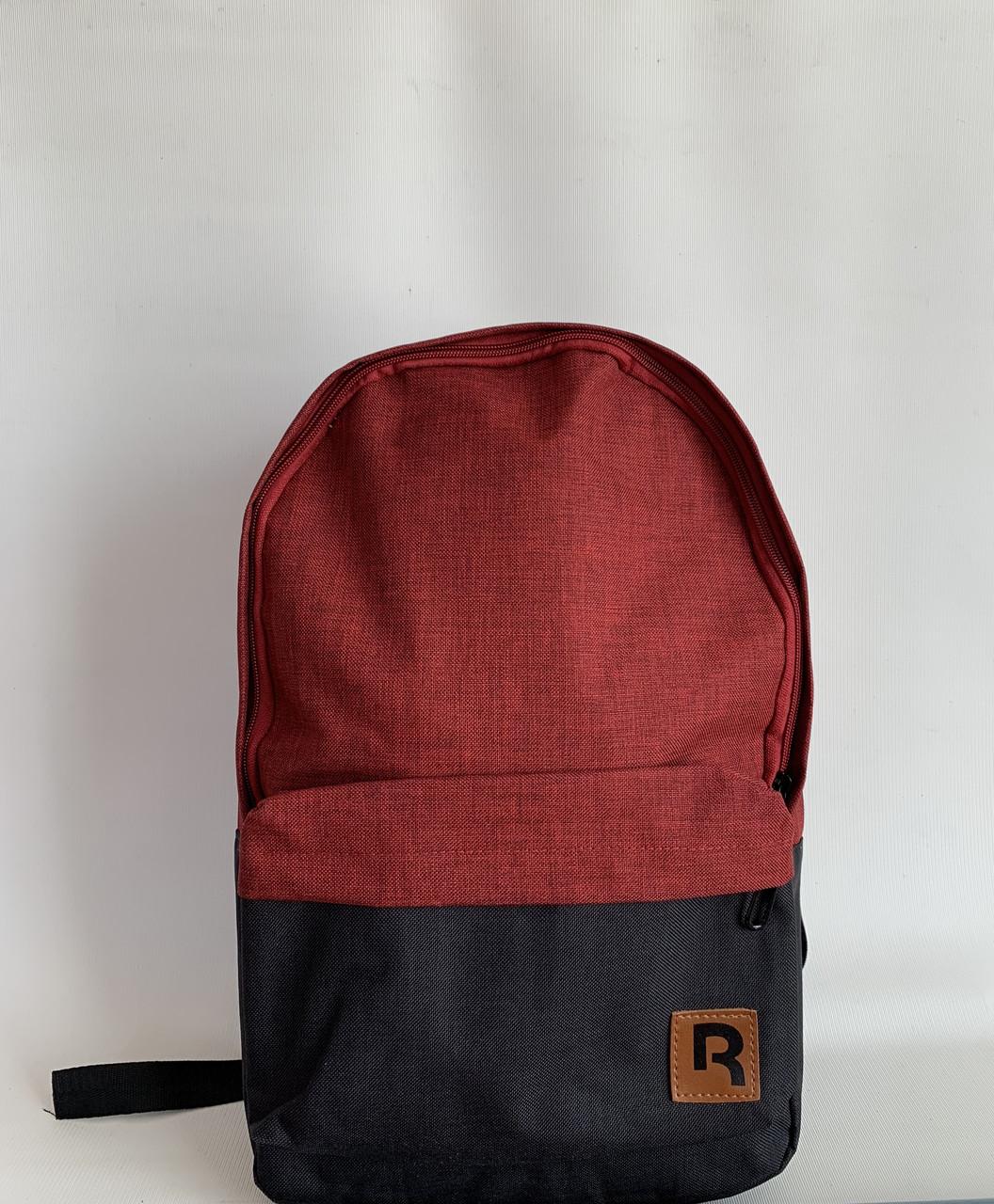 Стильный городской спортивный текстильный рюкзак бордовый