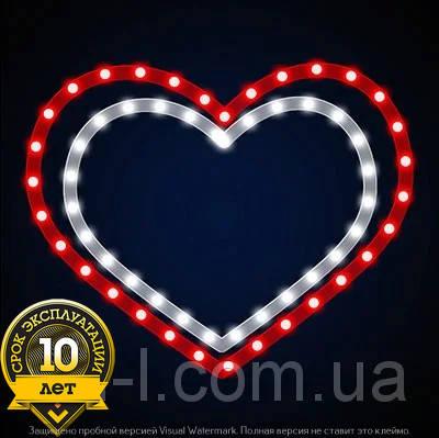 """Мотив светодиодный универсальный """"Двойное сердце"""", фото 2"""
