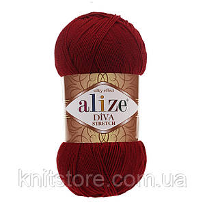 Пряжа Alize Diva Stretch Бордовый