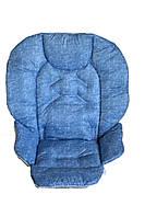 Чехол к стульчику для кормления Сhicco Polly 2 в 1 под голубой джинс, фото 1
