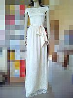 Платье длинное  гипюр, фото 1