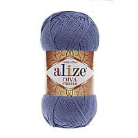 Пряжа Alize Diva Stretch Синий