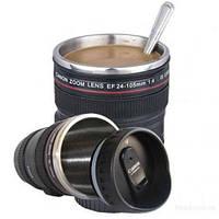 Чашка термос объектив Canon 24-105mm кружка бленда