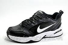 Мужские кроссовки в стиле Nike Air Monarch IV, Черные с белым (Кожа), фото 2