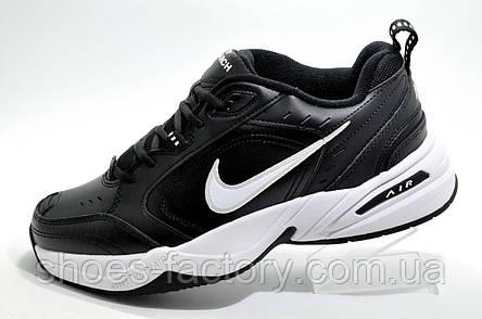 Кроссовки унисекс в стиле Nike Air Monarch IV, Black\White (Кожа), фото 2