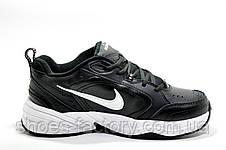 Кроссовки унисекс в стиле Nike Air Monarch IV, Black\White (Кожа), фото 3