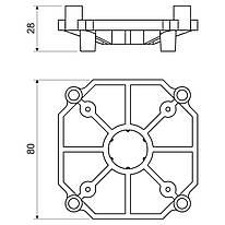 KBP-1_AA Підпірка коробки в бетоні