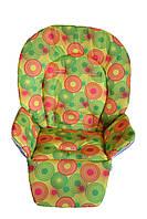 Чехол к стульчику для кормления Bambi, Caretero Magnus Круги на желтом, фото 1