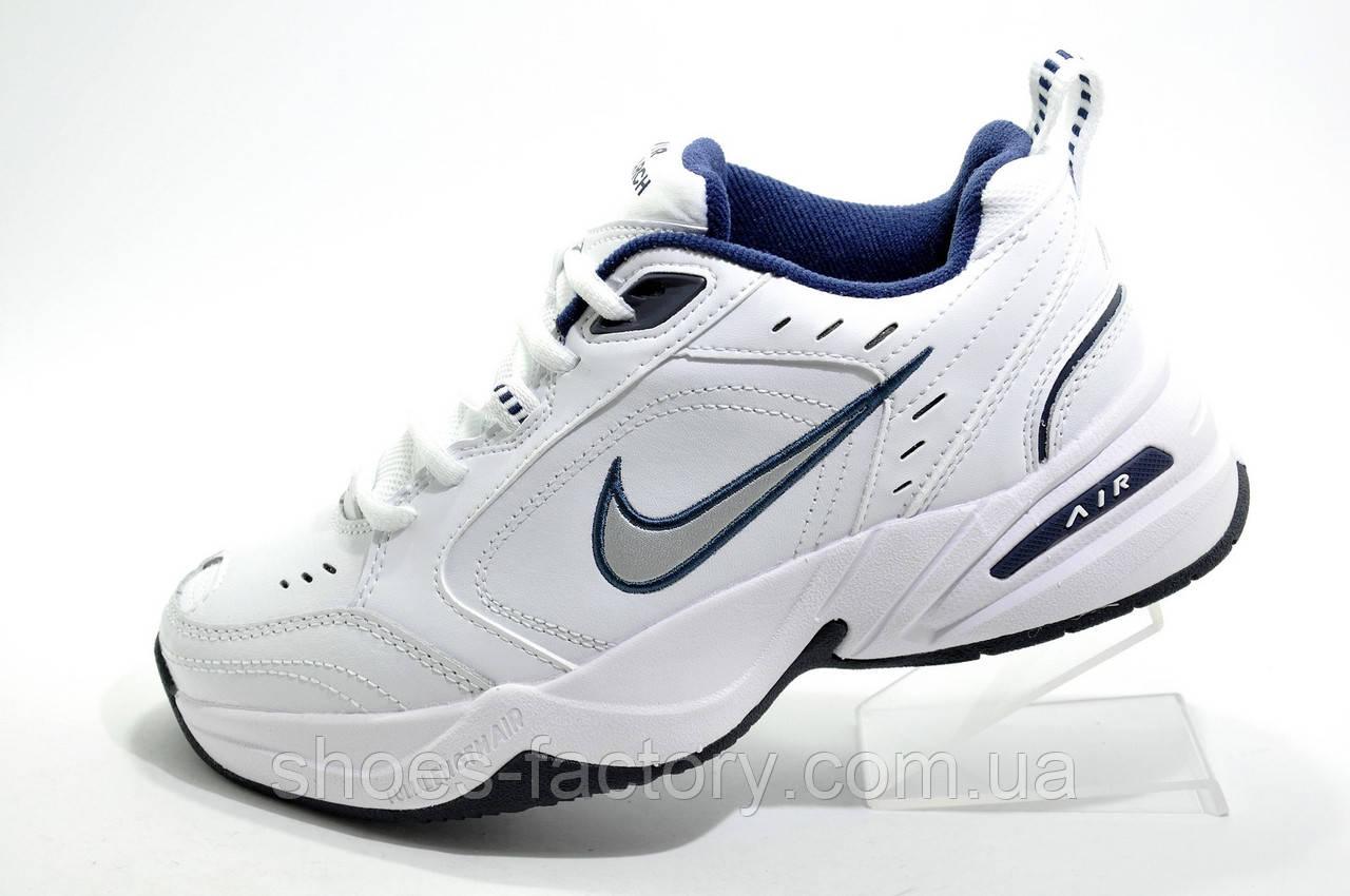 Белые женские кроссовки в стиле Nike Air Monarch IV, White (Кожа)