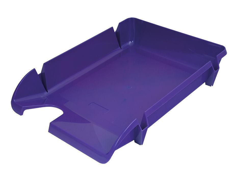 Лоток горизонтальный для бумаг «Компакт» Economix, пластик, фиолетовый