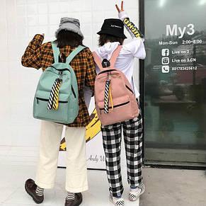 Рюкзак молодежный однотонный, фото 2