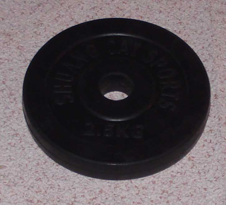 Блин обрезиненный 2,5 кг (30 мм)
