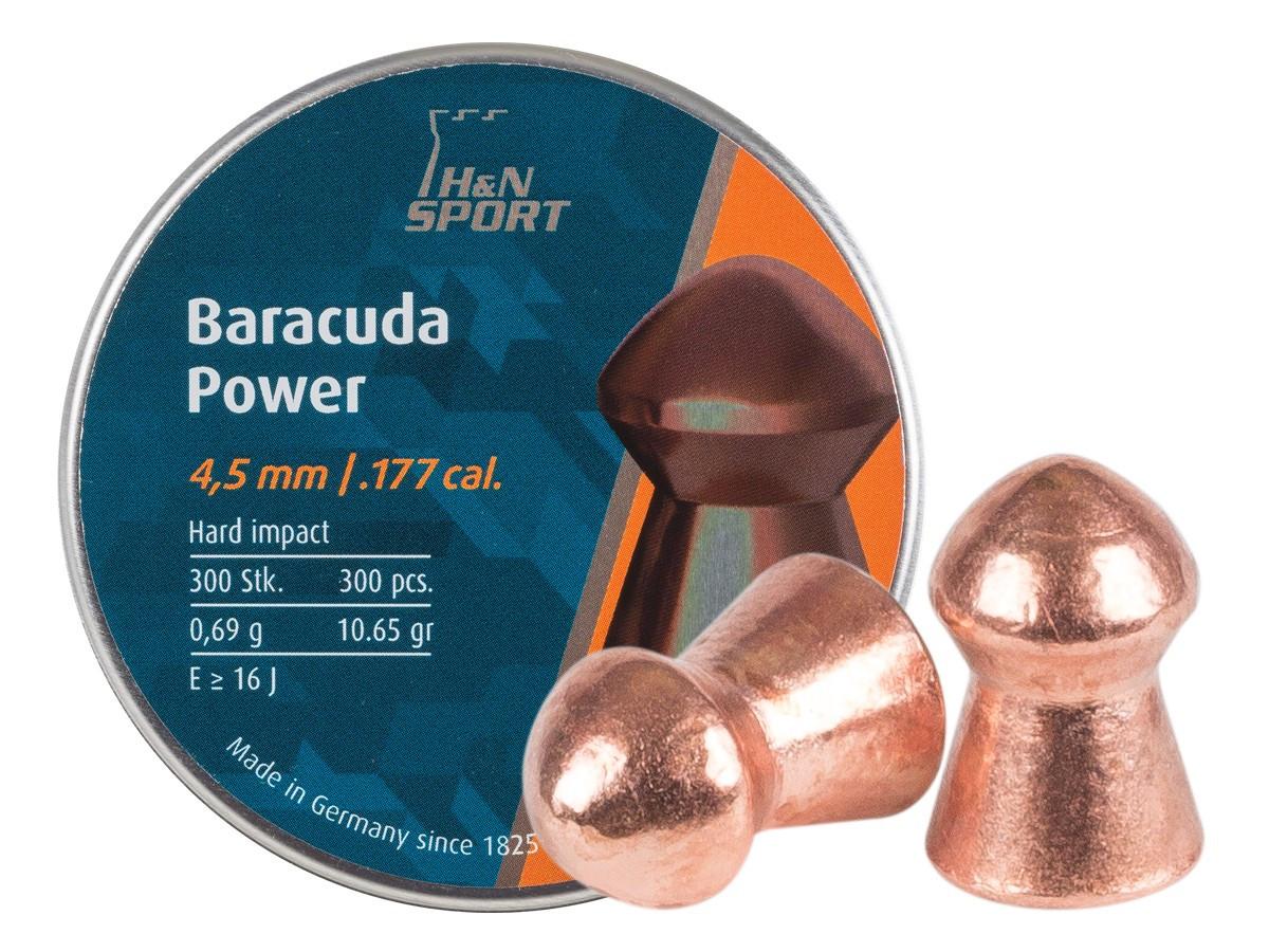 Кулі для пневматики H&N Baracuda Power 0.69 гр (300 шт)
