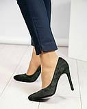 Туфли женские замша темно-зеленые, фото 2