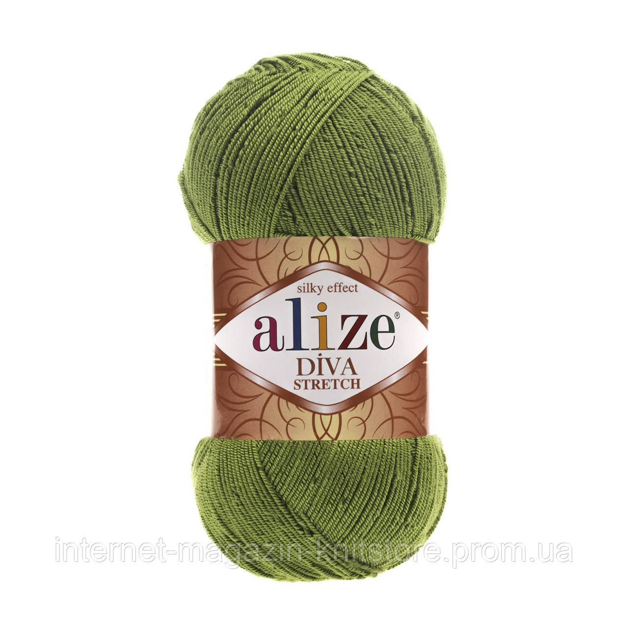 Пряжа Alize Diva Stretch Зеленый