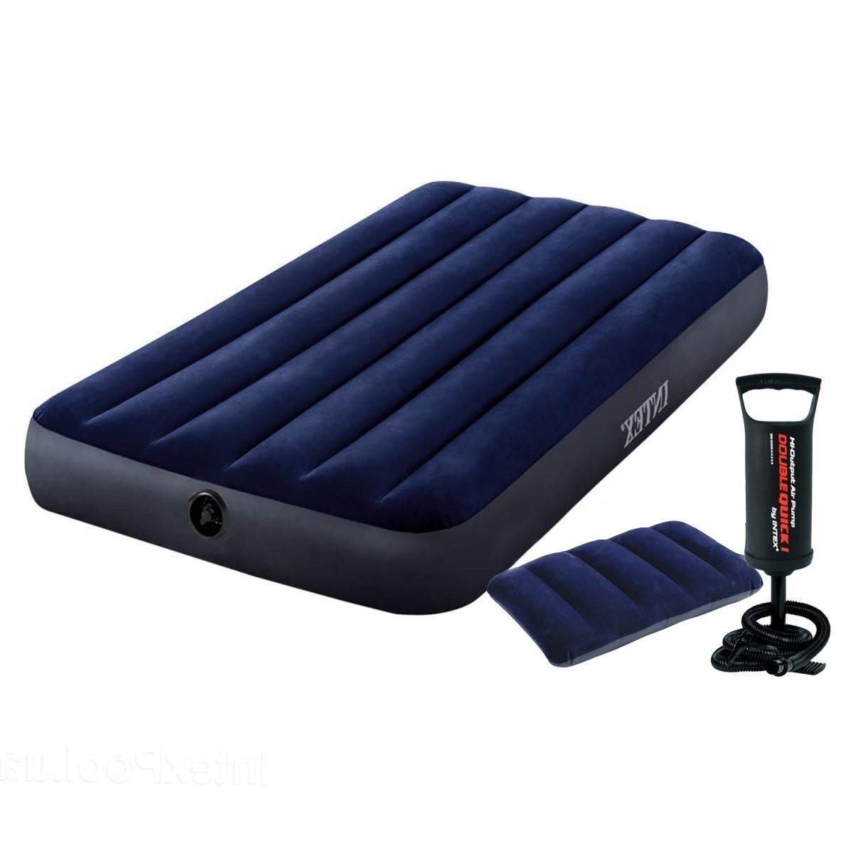 Надувной матрас Intex 68757-2, 99 х 191 х 22 см, с подушкой и ручным насосом. Одноместный