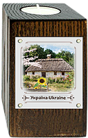 """Еко-підсвічник. """"Україна"""" """"Хата з соняшником"""""""