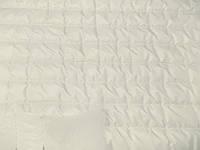Плащевка Лайт Мэмори стеганная 100 (молоко) Полоса (арт. 02168) отрезы 0,75 + 0,75 + 0,56 м