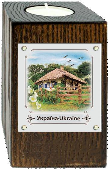 """Эко-подсвечник """"Україна"""" - """"Хата з мальвами"""""""