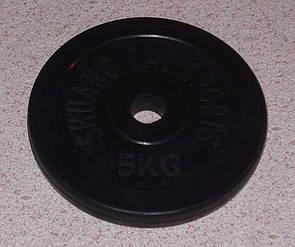 Блин обрезиненный 5 кг (30 мм)
