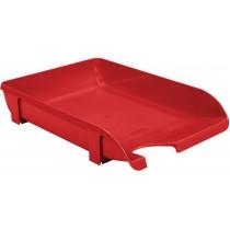 Лоток горизонтальный для бумаг «Компакт» Economix, пластик, красный непрозрачный(E80610)