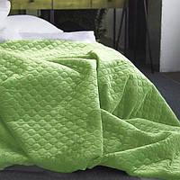 """Покрывало на кровать ТЕП™  """"Велюр"""" 220х240 салатовый, фото 1"""
