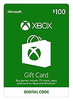 Подарочная карта Xbox Live Gift Card на сумму 100 usd, US-регион