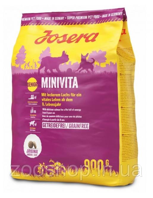 Josera MiniVita сухой корм для пожилых собак маленьких пород 900 г