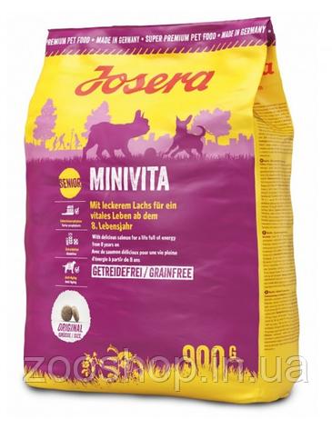 Josera MiniVita сухой корм для пожилых собак маленьких пород 900 г, фото 2