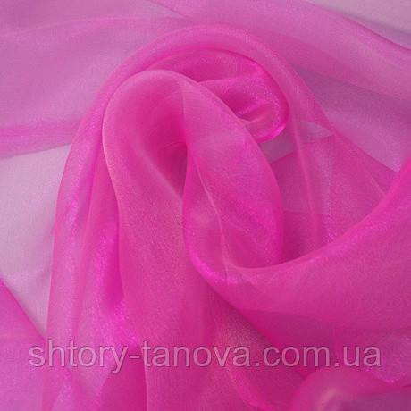Органза снежок ярко-розовый