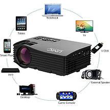 Проектор LED с Wi-Fi Unic UC36+. Проектор портативный мультимедийный LCD, фото 3