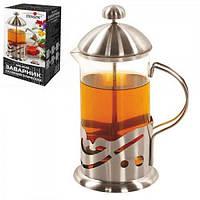 Чайник (заварник) для чая стеклянный с прессом 800мл Stenson (MS-0148)