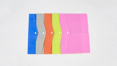 Пластиковая папка-конверт на кнопке. AIHAO AH2471A-N. Размер 33 х 23.5 см