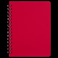Тетрадь на пружине Buromax Bright A6 60 листов клетка красная