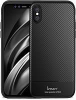 Чехол-накладка Ipaky Carbon Fiber Series/TPU Case With Carbon Fiber Apple iPhone XS Max Black #I/S