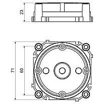 KBV-2/71_KB Кришка коробки в бетон
