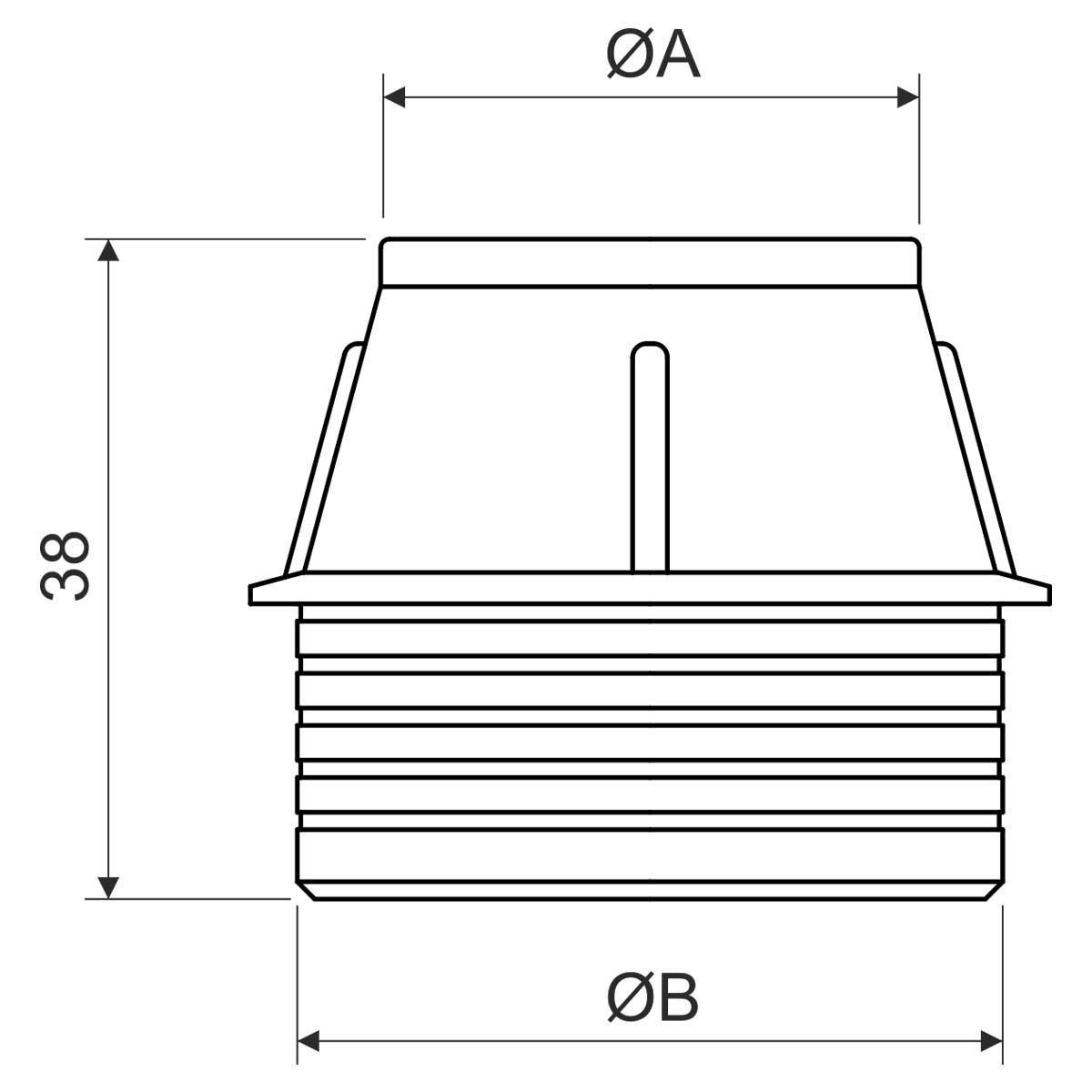Муфта кінцева для труб EN Ø25мм монолітного бетонобудування; РЕ; помаранчева