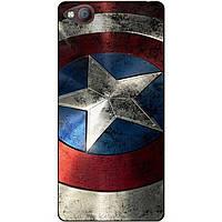 Чехол силиконовый для ZTE Nubia M2 Lite с рисунком Капитан Америка