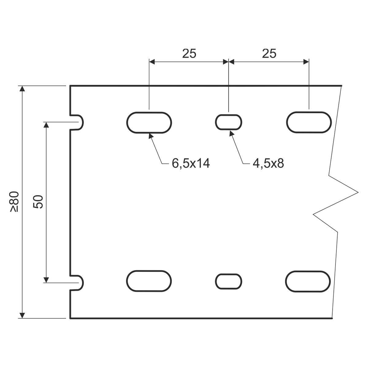 Кабельний канал перфорований100х60мм; довжина 2м.ш.ребра-5,5мм;між ребрами- 4,5мм;  ПВХ; сірий