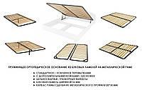 Каркас кровати металлический с основанием латофлес (буковая ламель),  ORTOLAND тм