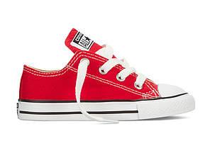 Детские кеды Converse All Star красные низкие