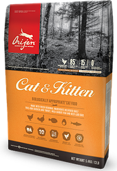 Корм Orijen Cat&Kitten Ориджен Кет&Кіттен для кішок всіх порід і вікових груп 340 гр