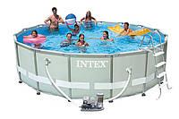 Бассейн каркасный 28326 INTEX Rectangular Ultra Frame Pool+полный комплект 488*122 см
