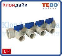 PPR Tebo Коллектор 32х20 на 4 контура синий