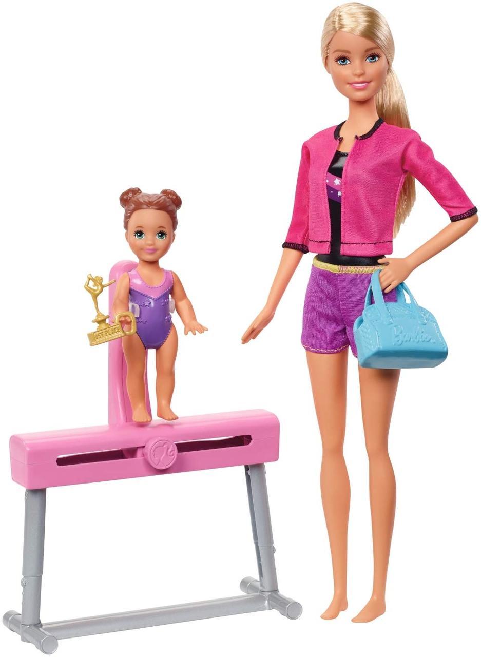 Набор Барби Тренер по спортивной гимнастике Barbie Gymnastics Coach Doll & Playset