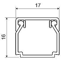 Кабельний канал з ПВХ білого кольору 17х17мм; Серія LHD; ПВХ