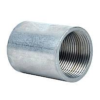 Муфта різьбова для труби; сталь лакована шар цинку 60-100мкм стійкість корозії- 2 кат.;