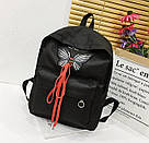 Рюкзак для девочек с бабочкой и шнуровкой., фото 3