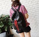 Рюкзак для девочек с бабочкой и шнуровкой., фото 2