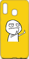 Чехол-накладка TOTO Cartoon Soft Silicone TPU Case Samsung Galaxy A20/A30 FK 2 Yellow #I/S